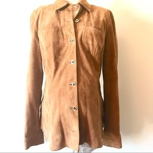 Maternity Cognac Suede Jacket A Pea In The Pod